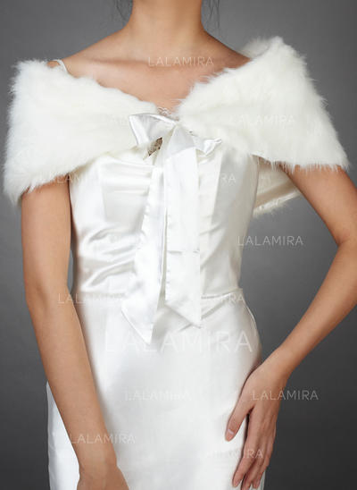 Wrap Wedding Faux Fur Sleeveless Other Colors Wraps (013149344)