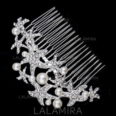 "Combs & Barrettes Wedding/Special Occasion/Party/Carnival Rhinestone/Alloy/Imitation Pearls 4.72""(Approx.12cm) 2.36""(Approx.6cm) Headpieces (042156186)"