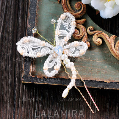 "Hairpins Wedding/Special Occasion/Casual/Outdoor/Party/Carnival/Art photography Lace 3.74""(Approx.9.5cm) Beautiful Headpieces (042159469)"