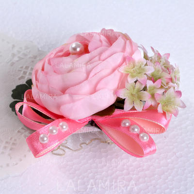 Wrist Corsage Round Wedding Silk (Sold in a single piece) Wedding Flowers (123190497)