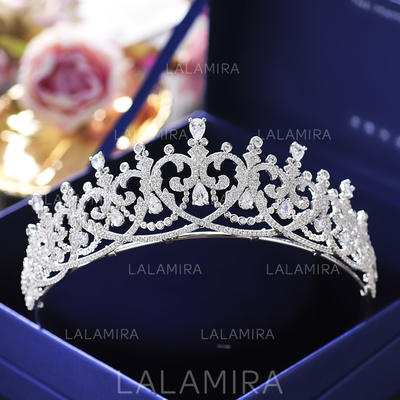 "Tiaras Wedding/Special Occasion/Casual/Outdoor/Party/Carnival/Art photography Zircon 1.77""(Approx.4.5cm) 5.71""(Approx.14.5cm) Headpieces (042159462)"