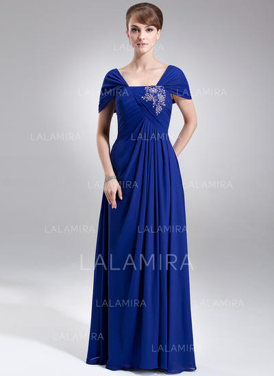 Ruffle Lace Beading Sequins Off-the-Shoulder Luxurious Chiffon Mother of the Bride Dresses (008006008)
