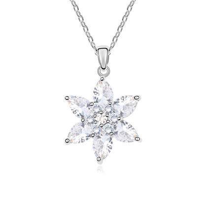 Necklaces Zircon/Platinum Plated Lobster Clasp Ladies' Gorgeous Wedding & Party Jewelry (011164602)