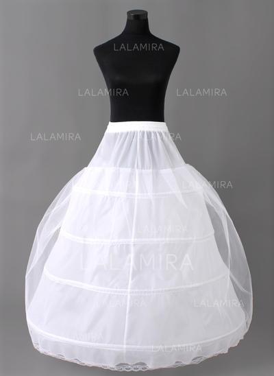 Petticoats Floor-length Nylon/Tulle Netting Full Gown Slip 2 Tiers Petticoats (037190668)