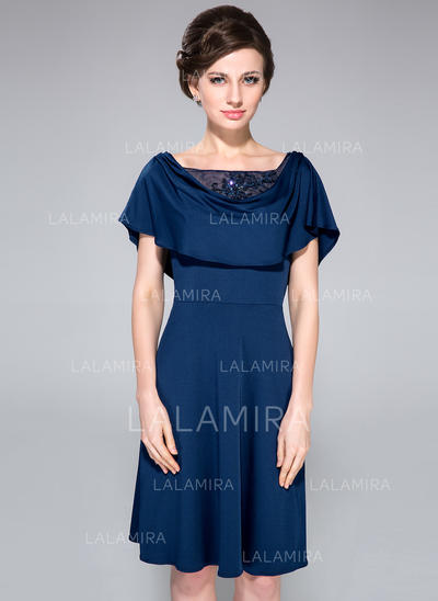 A-Line/Princess Jersey Sexy Cowl Neck Mother of the Bride Dresses (008210524)