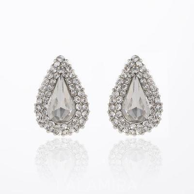 Pendientes Aleación/Diamantes de imitación Perforado Señoras' Hermoso Joyas de boda & fiesta (011123806)