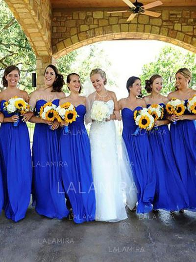 A-Line/Princess Floor-Length Sweetheart Sleeveless Chiffon Bridesmaid Dresses (007211714)