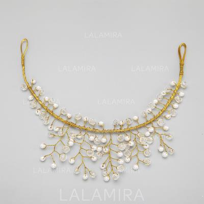 Hecha a mano Aleación/Perlas de imitación Diademas (042068343)