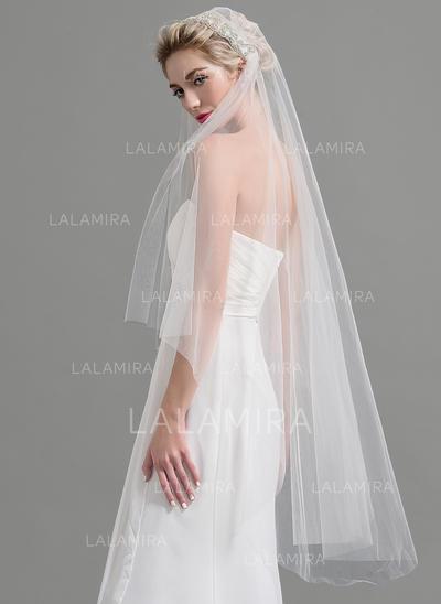Waltz Bridal Veils Tulle One-tier Classic With Cut Edge Wedding Veils (006151930)