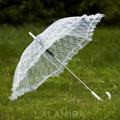 Wedding Umbrellas Bridal Parasols Women's Wedding Hook Handle Wedding Umbrellas (124148546)