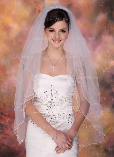 Yema del dedo velos de novia Tul Dos capas Estilo clásico con Lápiz Velos de novia (006003757)