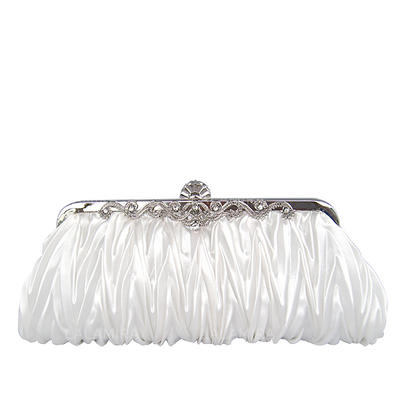 Clutches Wedding/Ceremony & Party Silk Clip Closure Gorgeous Clutches & Evening Bags (012186085)