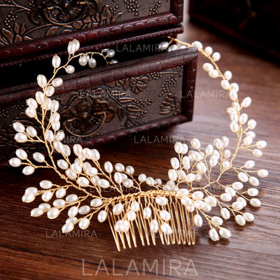 """Combs & Barrettes Wedding/Special Occasion/Party/Art photography Alloy/Imitation Pearls 13.78""""(Approx.35cm) 2.36""""(Approx.6cm) Headpieces (042159918)"""