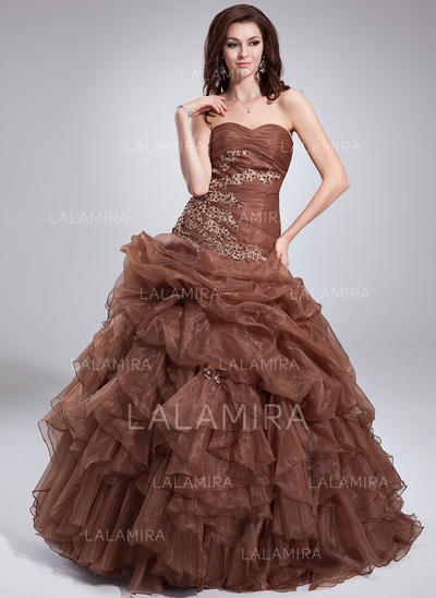 18c08219692 Ball-Gown Organza Prom Dresses Newest Floor-Length Sweetheart Sleeveless  (018135135) ...