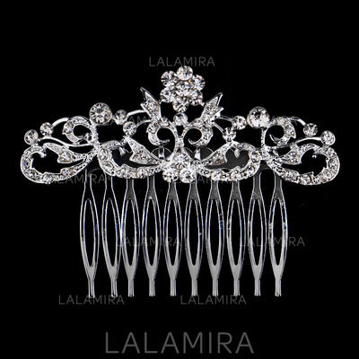 """Combs & Barrettes Wedding/Party Rhinestone/Alloy 3.15""""(Approx.8cm) 2.36""""(Approx.6cm) Headpieces (042159281)"""