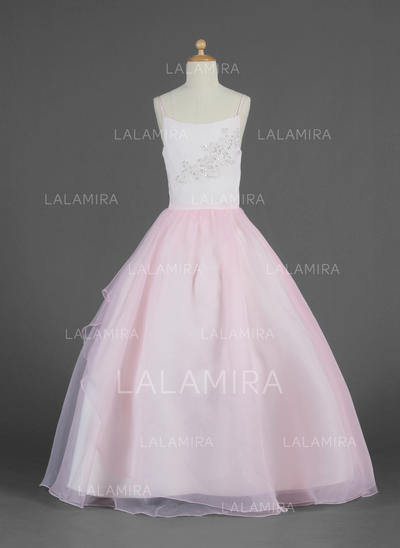 Chic Ball Gown Lace/Beading/Sequins Sleeveless Organza Flower Girl Dresses (010014620)