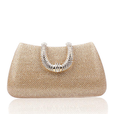Clutches/Wristlets/Bridal Purse/Fashion Handbags/Makeup Bags/Luxury Clutches Wedding/Ceremony & Party/Casual & Shopping/Office & Career Satin Snap Closure Elegant Clutches & Evening Bags (012187902)