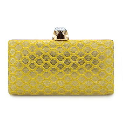 Clutches/Bridal Purse/Fashion Handbags/Makeup Bags Wedding/Ceremony & Party/Casual & Shopping/Office & Career Lace Snap Closure Elegant Clutches & Evening Bags (012187622)