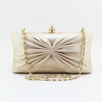 "Clutches Ceremony & Party Satin Attractive 7.48""(Approx.19cm) Clutches & Evening Bags (012185495)"