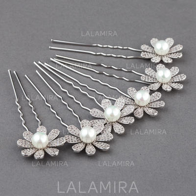 """Hairpins Wedding/Special Occasion Zircon 0.98""""(Approx.2.5cm) 2.95""""(Approx.7.5cm) Headpieces (042156009)"""