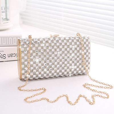 Clutches Wedding/Ceremony & Party Crystal/ Rhinestone/PU Clip Closure Fashional Clutches & Evening Bags (012188032)