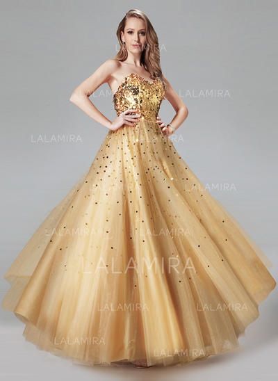 De baile Tule Vestidos de baile Moderno Longos Amada Sem magas (018212989)