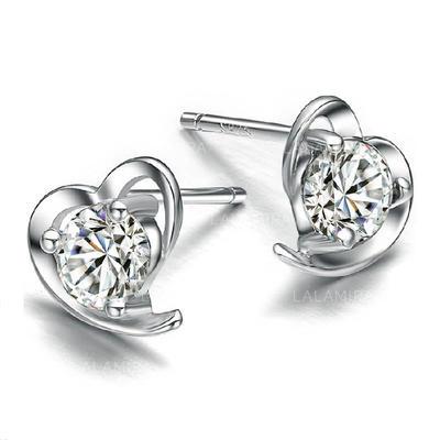 Earrings Zircon Pierced Ladies' Sparking Wedding & Party Jewelry (011165697)