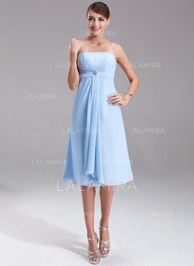 Empire Knee-Length Chiffon Knee-Length Bridesmaid Dresses (007001080)