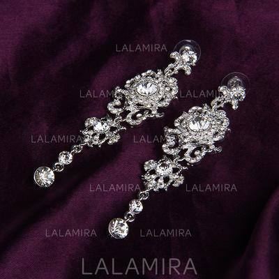 Earrings Alloy/Rhinestones Rhinestone Pierced Ladies' Wedding & Party Jewelry (011167849)