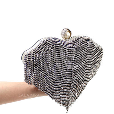 """Clutches Ceremony & Party Crystal/ Rhinestone Fashional 8.66""""(Approx.22cm) Clutches & Evening Bags (012187036)"""