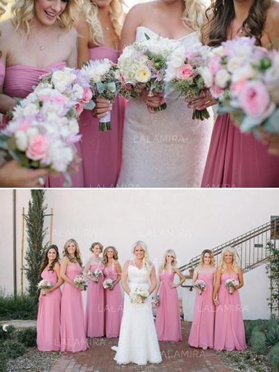 A-Line/Princess Sweetheart Floor-Length Bridesmaid Dresses With Ruffle (007144969)