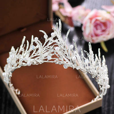 """Tiaras Wedding/Special Occasion/Party Crystal/Rhinestone/Alloy 2.36""""(Approx.6cm) 5.12""""(Approx.13cm) Headpieces (042158940)"""