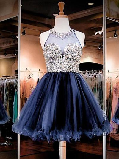 Stunning Homecoming Dresses A-Line/Princess Short/Mini Scoop Neck Sleeveless (022216267)