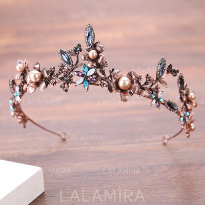 "Tiaras Wedding/Special Occasion Rhinestone/Alloy/Imitation Pearls 12.20""(Approx.31cm) 1.57""(Approx.4cm) Headpieces (042159362)"