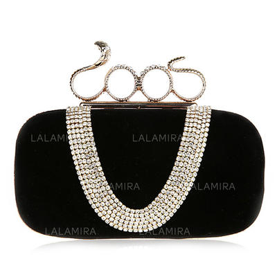 Clutches Ceremony & Party Velvet Clip Closure Charming Clutches & Evening Bags (012185248)