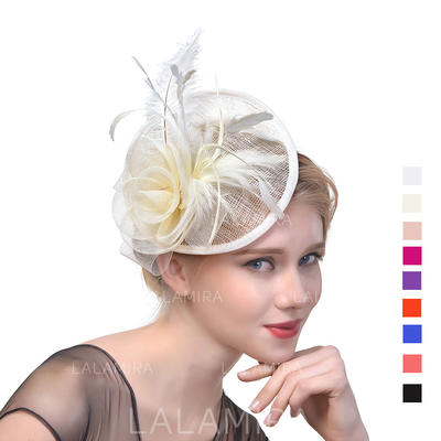 Cambric With Feather Fascinators Classic Ladies' Hats (196194672)