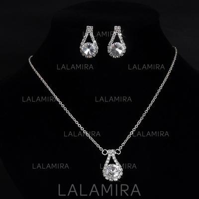 Jewelry Sets Alloy/Rhinestones Lobster Clasp Pierced Ladies' Wedding & Party Jewelry (011167265)