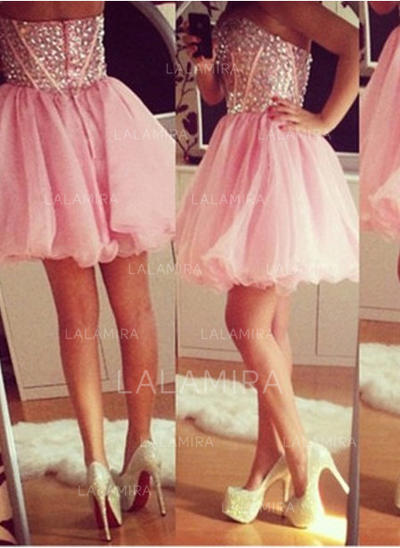 Sweetheart Tulle Sleeveless A-Line/Princess Fashion Cocktail Dresses (016145341)