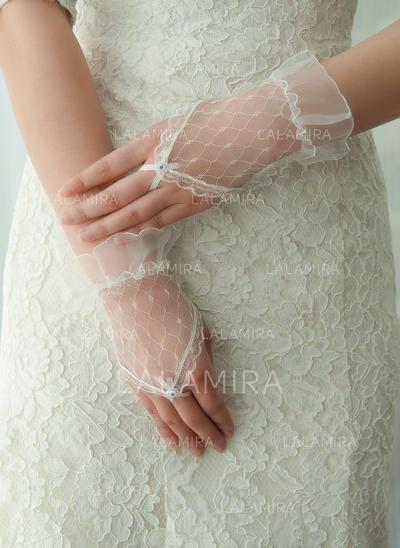 Tulle Ladies' Gloves Wrist Length Bridal Gloves Fingerless Gloves (014192195)