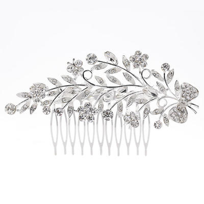 """Combs & Barrettes Wedding/Special Occasion Rhinestone/Alloy 4.33""""(Approx.11cm) 2.37""""(Approx.6cm) Headpieces (042158795)"""