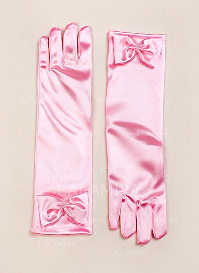 Elastic Satin Children's Gloves Flower Girl Gloves Fingertips S:28cm/M:32cm/L:34cm Gloves (014192015)
