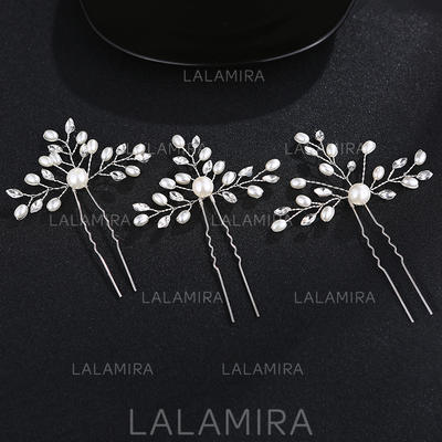 Hairpins Wedding/Party Rhinestone/Alloy Eye-catching Ladies Headpieces (042158804)