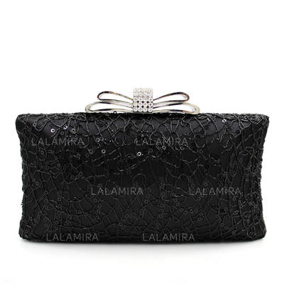 Clutches Wedding/Ceremony & Party Beading Snap Closure/Kiss lock closure Elegant Clutches & Evening Bags (012188111)