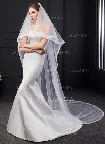 Chapel Bridal Veils Two-tier Classic With Ribbon Edge 118.11 in (300cm) Wedding Veils (006152541)