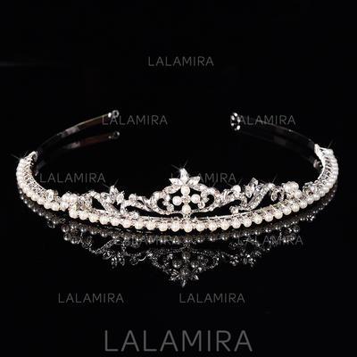 "Tiaras Wedding/Special Occasion Rhinestone/Alloy/Imitation Pearls 1.18""(Approx.3cm) 6.3""(Approx.16cm) Headpieces (042157201)"