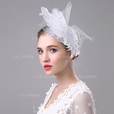 Señoras' Hermoso/Maravilloso/Moda/Especial Batista con Tul Disquete Sombrero (196139400)