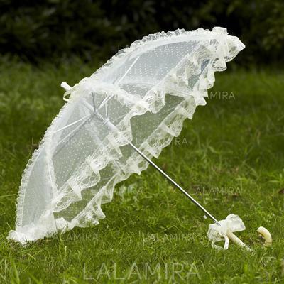 Wedding Umbrellas Bridal Parasols Women's Wedding Hook Handle Wedding Umbrellas (124148562)
