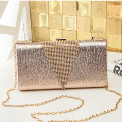 "Clutches/Satchel Wedding/Ceremony & Party PU Shining 8.67""(Approx.22cm) Clutches & Evening Bags (012186905)"