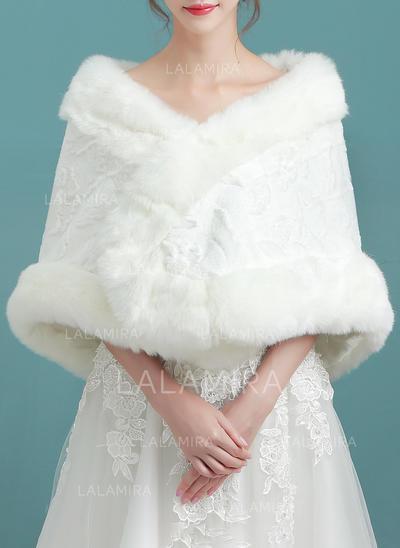 Wrap Wedding Faux Fur Ivory Wraps (013150332)