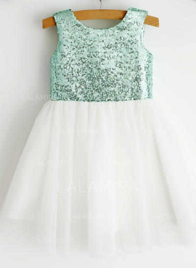 Tulle Ball Gown Sequins Newest Flower Girl Dresses (010196732)